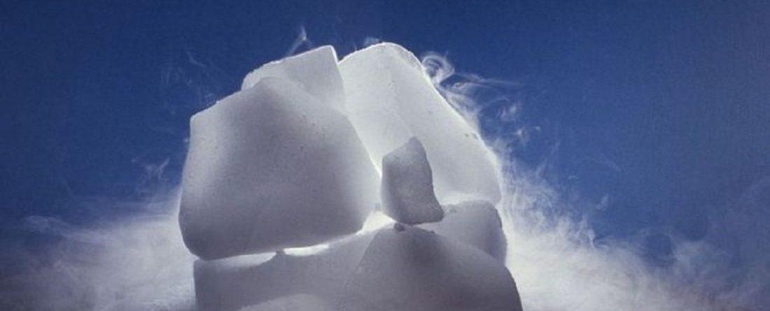 استفاده از یخ خشک در باربری مواد غذایی
